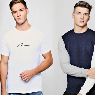 mens fashion at boohoo