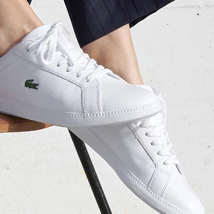 white lacoste sneakers