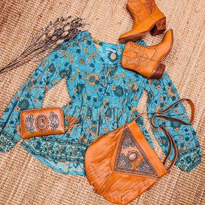 boho leather bag
