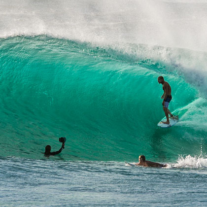 surfing at duranbah